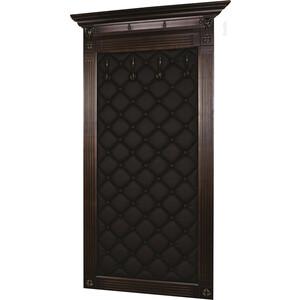 все цены на Вешалка в прихожую Мебелик Сильвия Н3 эко-кожа коричневый/темно-коричневый онлайн