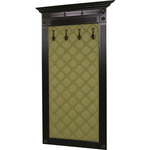 Вешалка в прихожую Мебелик Сильвия Н3 эко-кожа оливковый/венге банкетка мебелик сильвия эко кожа молочный белый ясень