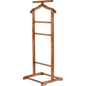 мебелик костюмная вешалка галант 332 алюминий средне коричневый Вешалка костюмная Мебелик В 6Н средне-коричневый