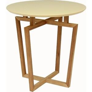 Стол журнальный Мебелик Рилле 440 бук / бежевый кругл. вешалка костюмная мебелик рилле 431м темный кофе бежевый