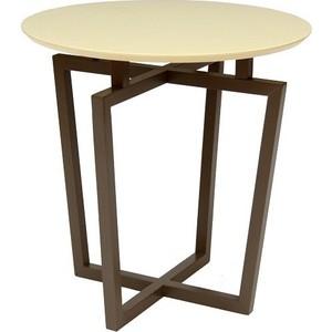 Стол журнальный Мебелик Рилле 440 темный кофе / бежевый кругл. вешалка костюмная мебелик рилле 431м темный кофе бежевый