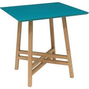 Стол журнальный Мебелик Рилле 441 бук / бирюзовый