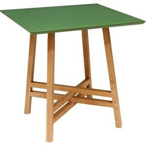 Стол журнальный Мебелик Рилле 441 бук / зеленый