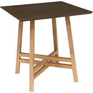 Стол журнальный Мебелик Рилле 441 бук / темный кофе