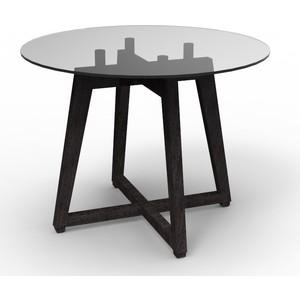 Стол журнальный Мебелик Рилле 445 венге/стекло прозрачное (круглое) раздвижной большой стеклянный обеденный стол кубика нагано 2 стекло стекло темно коричневое венге