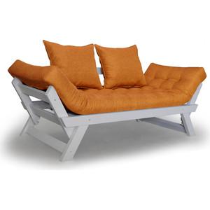 Кушетка Anderson Отман эмаль-оранжевая рогожка