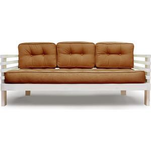 Диван Anderson Стоун бел дуб-коричневая рогожка шатура комплект лондон рогожка микс коричневая диван 2 кресла