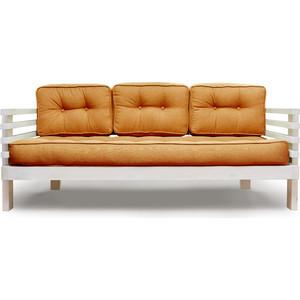 Диван Anderson Стоун бел дуб-оранжевая рогожка диван ру стоун