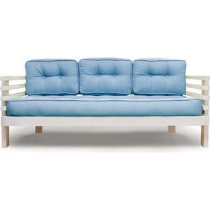Диван Anderson Стоун бел дуб-синяя рогожка диван ру стоун
