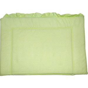BamBola Бортик в кроватку Карамельки Бязь 43*360 Зеленый 113