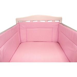 BamBola Бортик в кроватку Карамельки Бязь 43*360 Розовый 113 комплекты в кроватку bambola мозаика 4 предмета