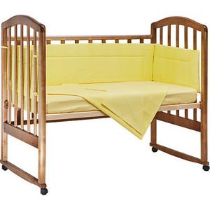 BamBola Комплект в кроватку 4пр. Карамельки Желтый 403