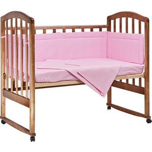 BamBola Комплект в кроватку 4пр. Карамельки Розовый 403