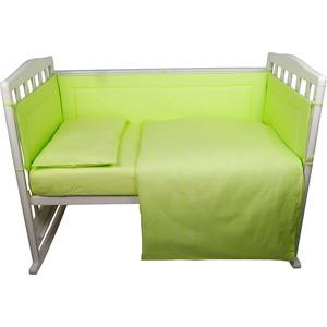 BamBola Комплект в кроватку 6пр. Карамельки Зеленый 603
