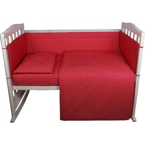 BamBola Комплект в кроватку 6пр. Карамельки Малиновый 603