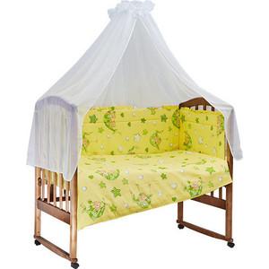 Комплект в кроватку BamBola 7пр. Гамачки Желтый 700 комплекты в кроватку bambola мозаика 4 предмета