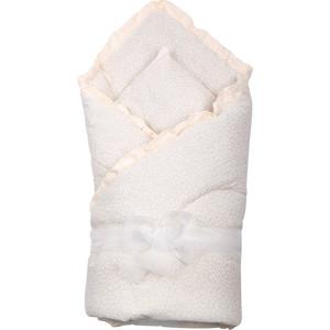BamBola Одеяло 110*110 уголок чепчик лента капрон 5м (бязь шитье, шерстипон) Бежевый 200