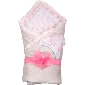 BamBola Одеяло 110*110, уголок, чепчик, лента капрон 5м (бязь. шитье, шерстипон) Розовый 200