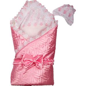BamBola Одеяло на выписку 110*110 (атлас, искуственный мех) Розовый 201