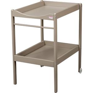 Столик для пеленания Combelle Alice (дерево) 2 колеса - Grey / Серый 1100