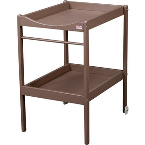 Столик для пеленания Combelle Alice (дерево) 2 колеса - Mole / Светлый шоколад 2100