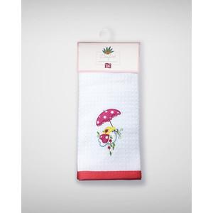 Набор кухонных полотенец TAC Red chick 40x60 махра/вышивка 2 штуки (2999k-89691)