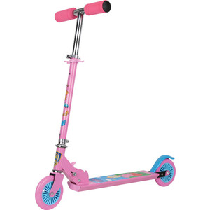 Самокат 3-х колесный 1Toy Peppa розовый, Т57589 самокат 3 х колесный 21st scooter 21st scooter самокат 3 х колесный maxi scooter с сиденьем красный
