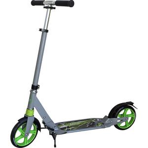 Самокат 3-х колесный 1Toy Серо-зеленый, Т58460 самокат 3 х колесный 21st scooter 21st scooter самокат 3 х колесный maxi scooter зеленый