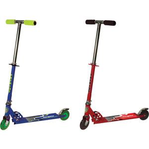 Самокат 3-х колесный 1Toy Синий/красный, Т56894 самокат 3 х колесный 21st scooter 21st scooter самокат 3 х колесный maxi scooter с сиденьем синий