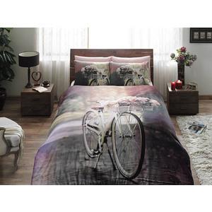 Комплект постельного белья TAC Семейный, сатин, Sunshine, розовый (3082-15618)