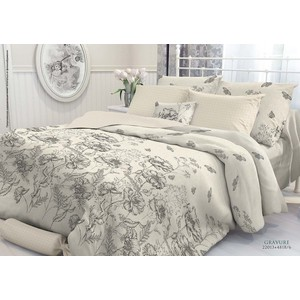где купить Комплект постельного белья Verossa Constante 2-х сп, перкаль, Gravure с наволочками 50x70 (707016) по лучшей цене