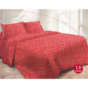 Комплект постельного белья Гармония 1,5 сп, поплин, Барокко Красный с наволочкой 50x70 (704116)