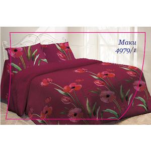 Комплект постельного белья Гармония 1,5 сп, поплин, Маки с наволочками 70x70 (704135)