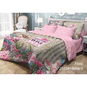 Комплект постельного белья Волшебная ночь 1,5 сп, ранфорс, Flora с наволочками 70x70 (703931)