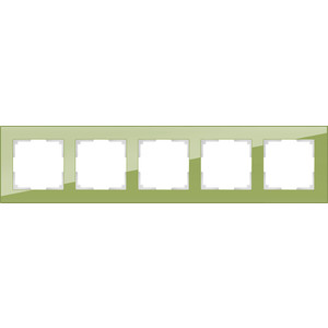 Рамка Werkel Favorit на 5 постов фисташковый WL01-Frame-05