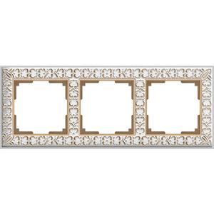 Рамка Werkel Antik на 3 поста белое золото WL07-Frame-01