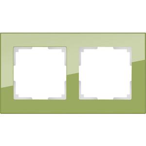где купить Рамка Werkel Favorit на 2 поста фисташковый WL01-Frame-02 по лучшей цене