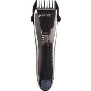 Машинка для стрижки волос Scarlett SC-HC63054 черный машинка для стрижки scarlett sc hc63c59 черный синий 8вт насадок в компл 4шт