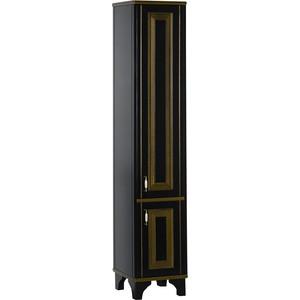 Шкаф-пенал Aquanet Валенса черный краколет/золото (180044)