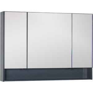 Зеркало-шкаф Aquanet Виго 120 сине-серый (183363) модульный угловой шкаф виго