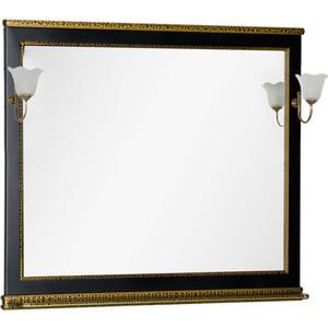 Зеркало Aquanet Валенса 110 черный краколет/золото (180295)