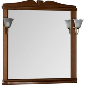 Фото - Зеркало Aquanet Николь 90 орех, массив бука (180518) зеркало aquanet николь 180512