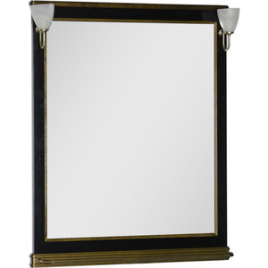 Зеркало Aquanet Валенса 90 черный краколет/золото (180043)