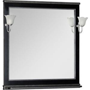 Зеркало Aquanet Валенса 90 черный краколет/серебро (180140)
