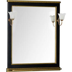 Зеркало Aquanet Валенса 80 черный краколет/золото (180293)