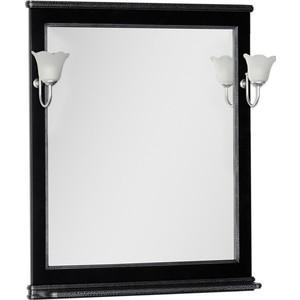 Зеркало Aquanet Валенса 80 черный краколет/серебро (180299)