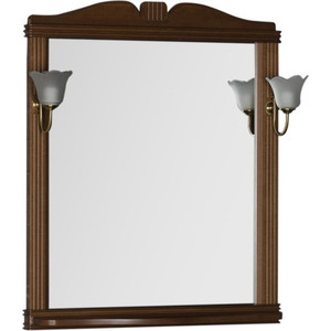 Фото - Зеркало Aquanet Николь 80 орех, массив бука (180512) зеркало aquanet николь 180512