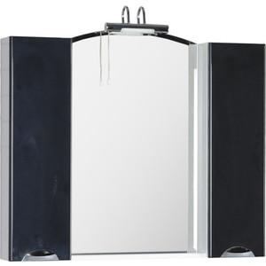 цены  Зеркало-шкаф Aquanet Асти 105 черный (178241)