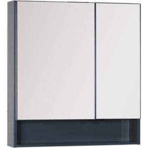Зеркало-шкаф Aquanet Виго 80 сине-серый (183362) модульный угловой шкаф виго