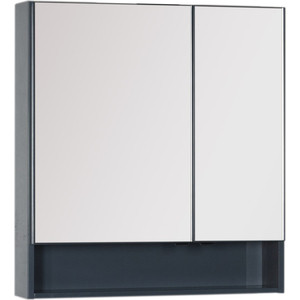 Зеркало-шкаф Aquanet Виго 80 сине-серый (183362)